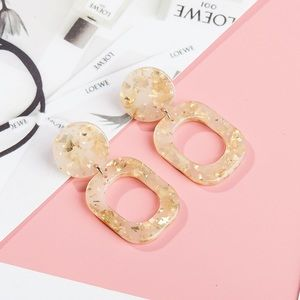 Jewelry - Acrylic with Gold Speckles Drop Earrings